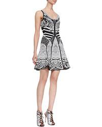 Fanny sleeveless fit and flare dress zebra tattoo medium 24988