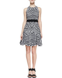 Zebra print a line dress medium 24990