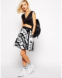 adidas Orginals Skater Skirt With All Over Typo Print
