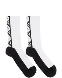 Acne Studios Black And White Motif Socks