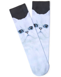Forever 21 Cat Face Socks