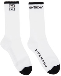 Givenchy White Black 4g Socks