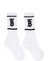 Burberry White Monogram Socks