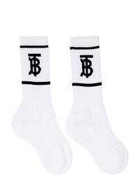Burberry White Monogram Socks