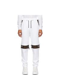 Fendi White Panelled Forever Lounge Pants