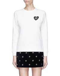 ALEXACHUNG Alexa Chung Lonely Hearts Club Print Sweatshirt