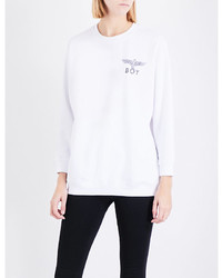 Boy London Logo Print Cotton Jersey Sweatshirt