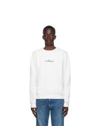 Maison Margiela Off White Logo Crewneck Sweatshirt