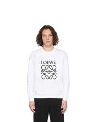 Loewe White Anagram Sweatshirt