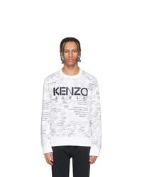 Kenzo White Logo All Over Sweatshirt