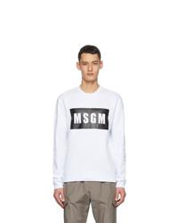 MSGM White Logo Box Sweatshirt