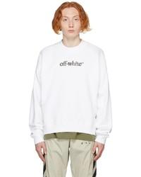 Off-White White Slanted Logo Skate Sweatshirt