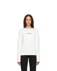 Maison Margiela White Upside Down Logo Sweatshirt
