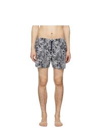Missoni Black And White Striped Swim Shorts
