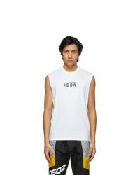 DSQUARED2 White Zlatan Ibrahimovi Edition Icon T Shirt