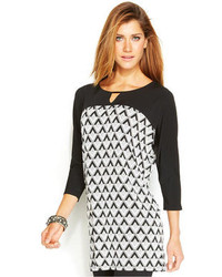 Printed keyhole tunic medium 99086