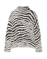 By Malene Birger Dianella Zebra Intarsia Cotton Blend Turtleneck Sweater