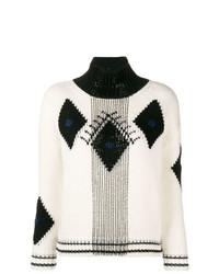 Ermanno Scervino Geometric Turtle Neck Sweater