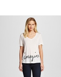 Imagine Graphic T Shirt White K By Kersh