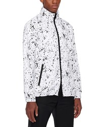 Emporio Armani Blouson Reversible Water Resistant Hooded Jacket