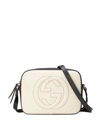 Gucci Gg Zip Top Small Camera Disco Bag Whiteblack