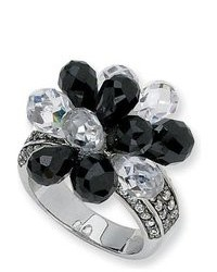 White and Black Ring