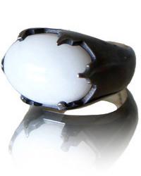 Acfj Black White Castle Ring