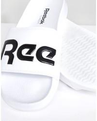 Reebok Split Sliders In White Cn0736