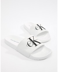 Calvin Klein Viggo Logo Sliders In White