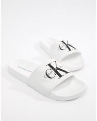 Calvin Klein Viggo Logo Sliders In White