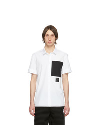 Neil Barrett White Black Pocket Short Sleeve Shirt
