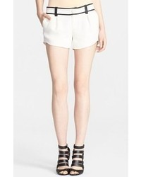 Alice + Olivia Leather Trim Butterfly Shorts