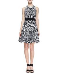 White and black skater dress original 3147459