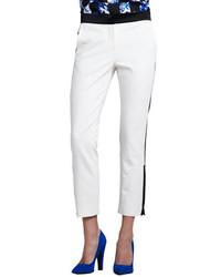Tibi Colorblock Zipper Cuff Cropped Pants