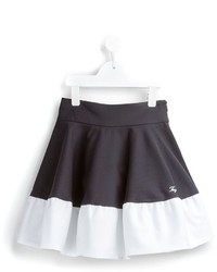 White and Black Skirt