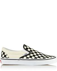 White and black slip on sneakers original 9767065