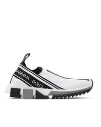 Dolce And Gabbana White Sorrento Slip On Sneakers