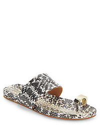 Capria snake embossed flat sandals medium 211842