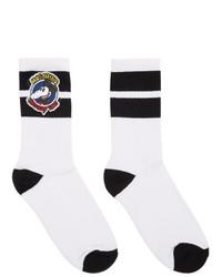 Moschino White Chinese New Year Mickey Rat Socks