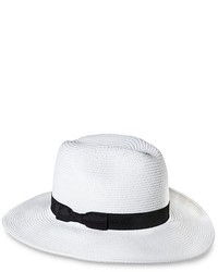 Merona Solid Panama Hat With Bow Sash White Tm