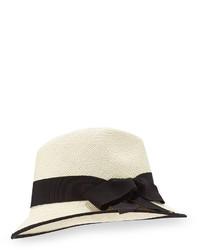 Inverni Straw Panama Hat Naturalblack