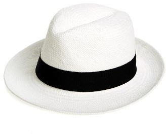 Halogen Straw Panama Hat
