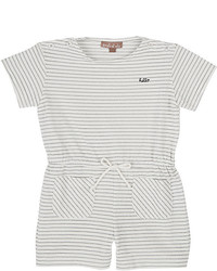 Emile et Ida Striped Cotton Blend Romper