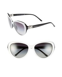 BVLGARI Oversized 57mm Sunglasses White One Size