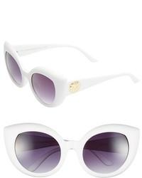 Crap Eyewear The Diamond Brunch 55mm Sunglasses Gloss Purple Glitter