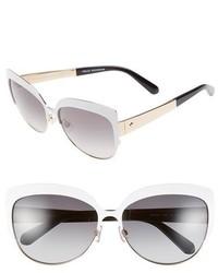 Kate Spade New York Rlyn 59mm Cat Eye Sunglasses Demi Brown Foil