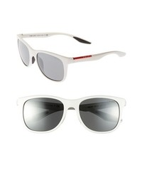 Prada 55mm Square Sunglasses White One Size
