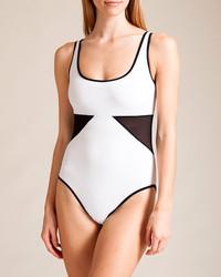 Karla colletto powernet round neck swimsuit medium 270595
