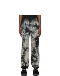 Off-White Black And Blue Tie Dye Lounge Pants
