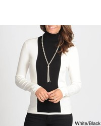 Focus color block turtleneck medium 437486